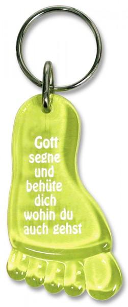 """Schlüsselanhänger """"Fuß"""" gelb"""