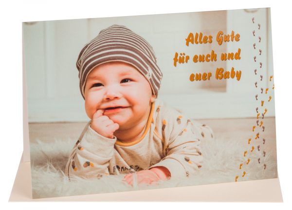 """Faltkarte """"Alles Gute für euch und euer Baby"""""""