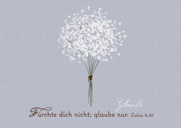 Postkarte - Weißer Blumenstrauß