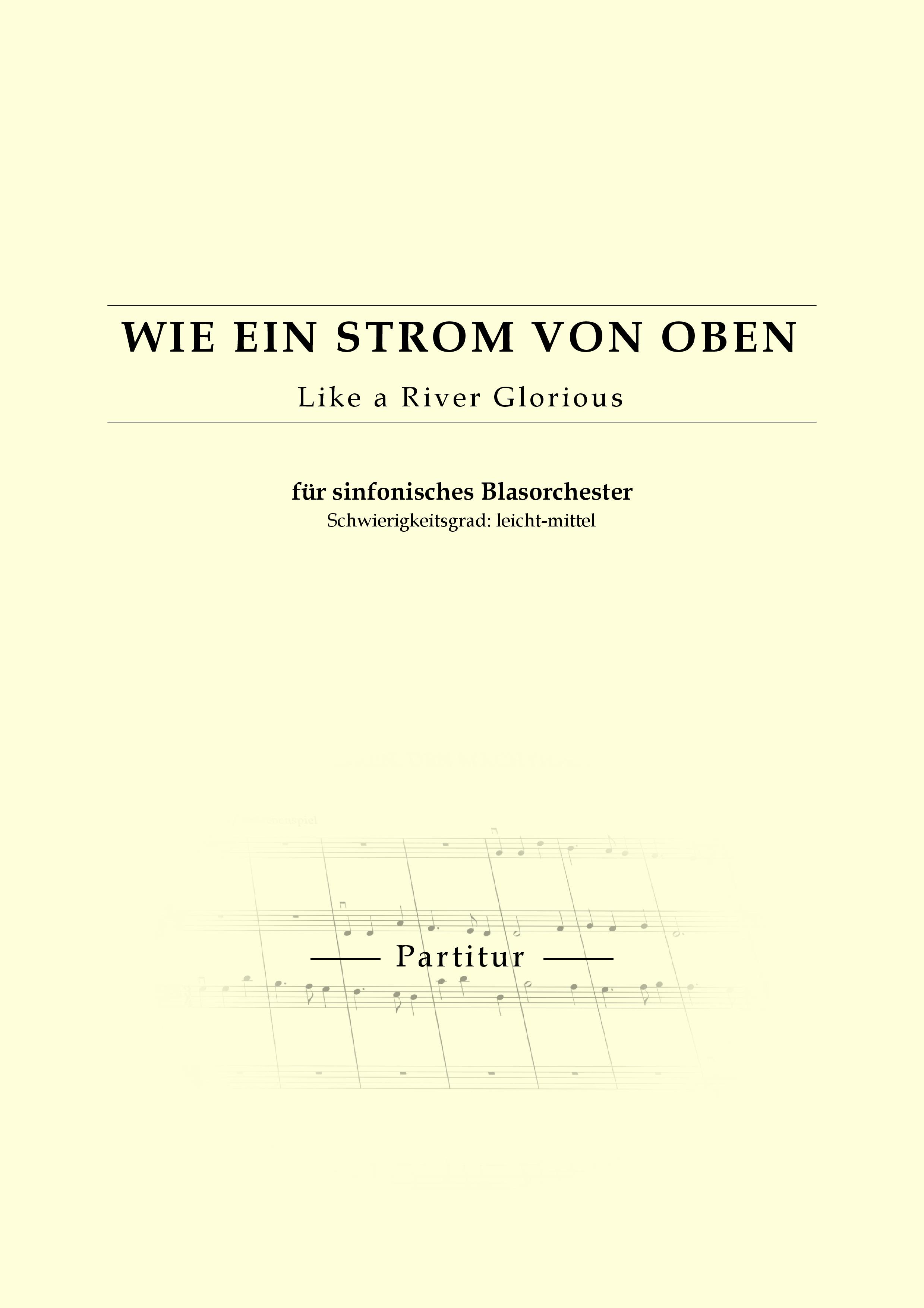 Kochinsel Strom Von Oben ~ partitur für sinfonisches blasorchester wie strom von