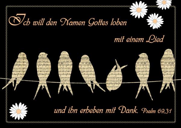 Postkarte - Vögel