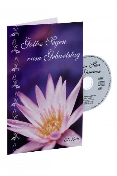 """CD-Karte """"Gottes Segen zum Geburtstag"""" (Seerose)"""