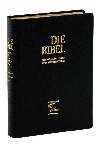 Schlachter 2000 Standardausgabe - Rindleder schwarz/ flexibler Umschlag / Goldschnitt / Fadenheftung