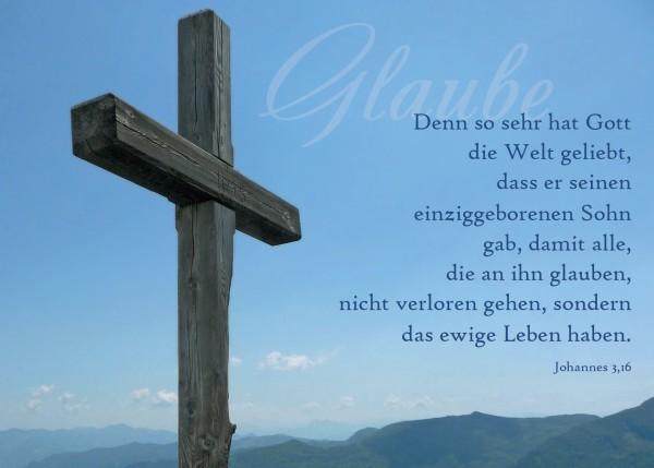 "Postkarte ""Glaube"""
