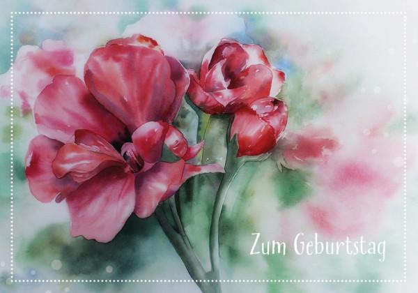 Faltkarte - Zum Geburtstag Blume