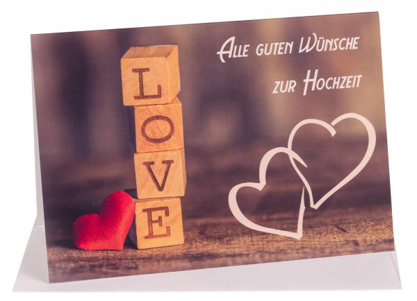 """Faltkarte """"Alle guten Wünsche zur Hochzeit"""""""