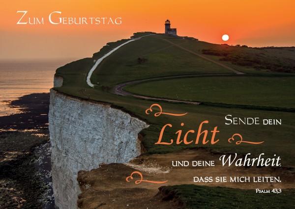 """Postkarte """"Sende dein Licht"""""""