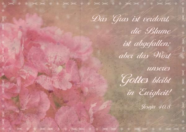 "Postkarte ""Vintage Blume"""