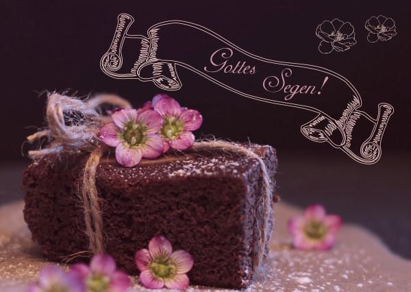 Postkarte - Kuchen