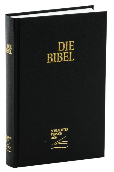 Schlachter 2000 Taschenausgabe - Kunstleder schwarz / Hardcover / Fadenheftung / neue Rechtschreibun