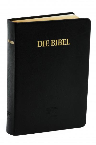 Schlachter 2000 Großdruckausgabe - Kalbsleder schwarz / flexibler Umschlag / Goldschnitt / ohne Para