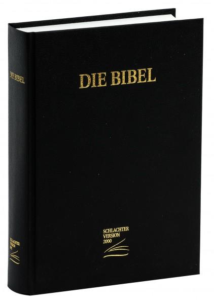 Schlachter 2000 – Schreibrandausgabe / Cover schwarz (Baladek) / Fadenheftung / ohne Parallelstellen