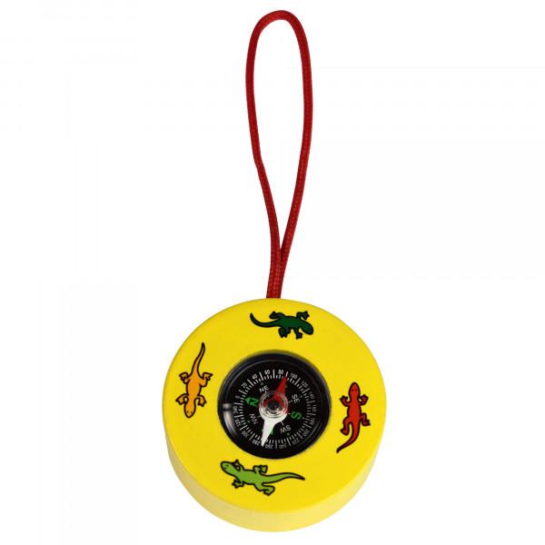 Kompass aus Holz - gelb