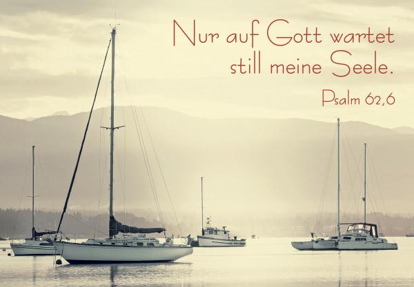 Motivkärtchen: Nur auf Gott wartet still meine Seele.