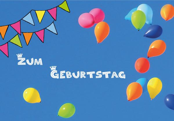 "Faltkarte ""Luftballons"""