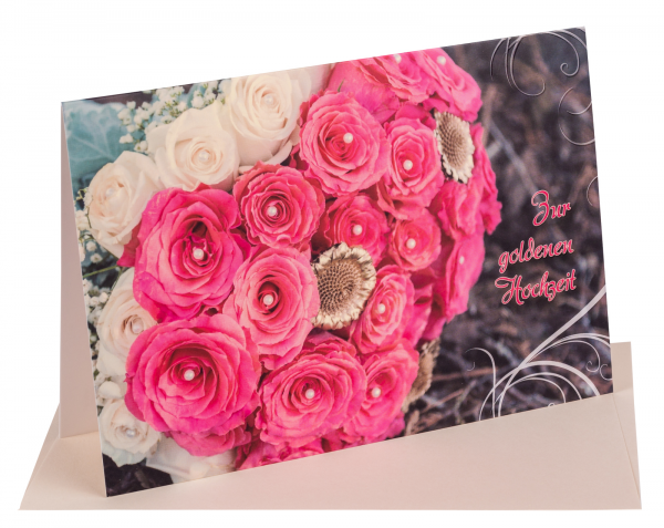 """Faltkarte """"Zur goldenen Hochzeit"""""""
