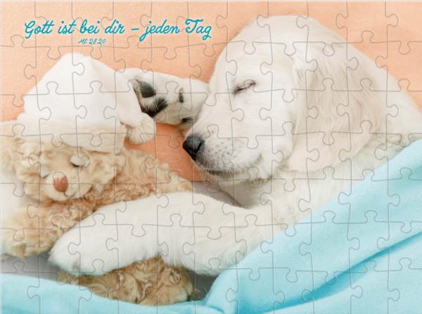 Puzzle-Cup - Hundemotiv