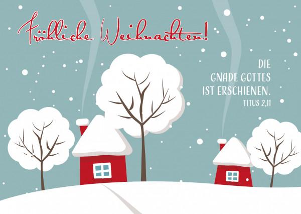 Postkarte - Fröhliche Weihnachten!