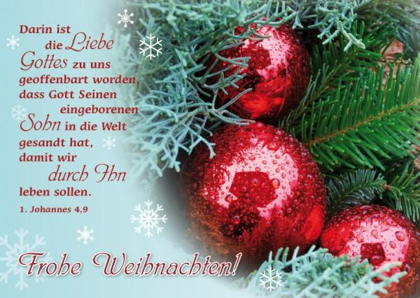"""Postkarte """"Weihnachtskugeln"""""""