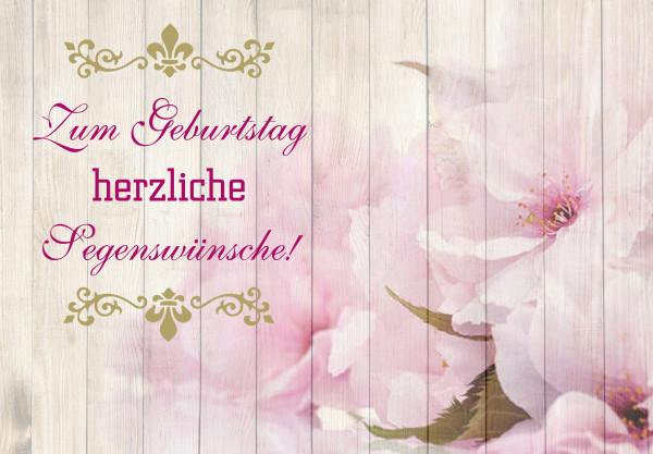 Motivkärtchen: Zum Geburtstag herzliche Segenswünsche!