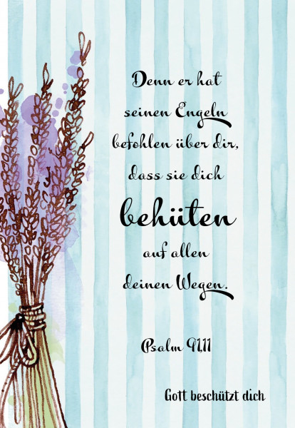 Postkarte im Aquarelldesign - Lavendel